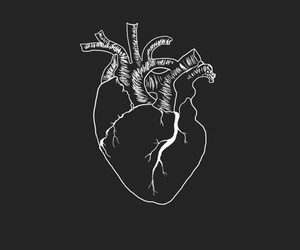 heart, black, and black and white image