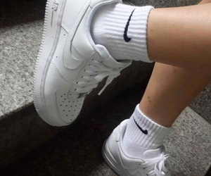 aesthetic, nike, and white image