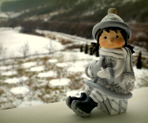 doll, winter, and white image