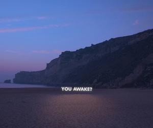 quotes, awake, and beach image