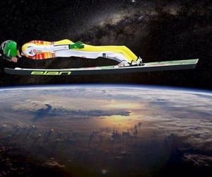 funny, ski jumping, and peter prevc image