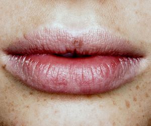 lips, indie, and freckles image