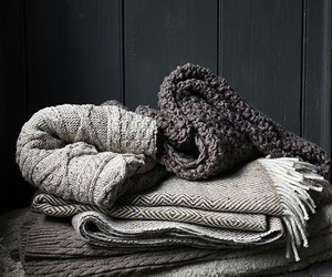 winter, blanket, and grey image