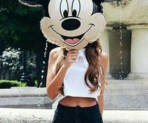 girl, disney, and mickey image