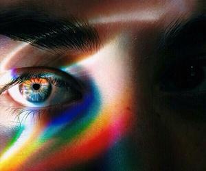 rainbow, eyes, and eye image