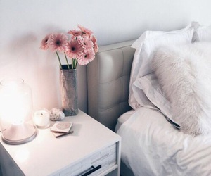 flowers, room, and bedroom image