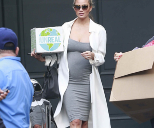 candid, fashion, and pregnant image
