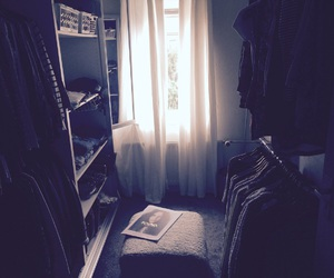 closet, room, and wardrobe image