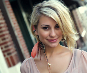 blond hair, chelsea kane, and earring image