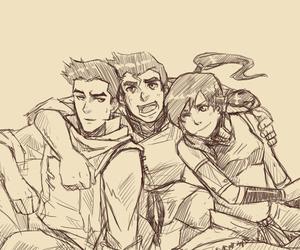 avatar, mako, and korra image