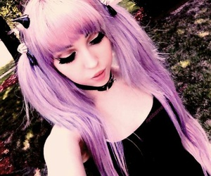 beauty, girl, and lilac image