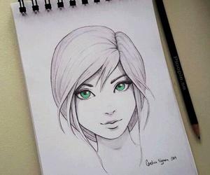 drawing, art, and girl image
