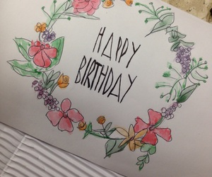birthday card, happy birthday, and creative image