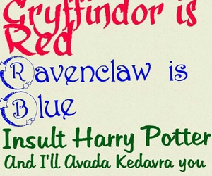 blue, funny, and gryffindor image