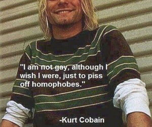 kurt cobain, nirvana, and gay image