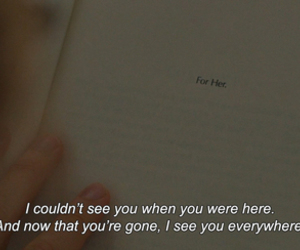 quotes, sad, and book image