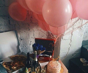 balloons, birthday, and champagne image