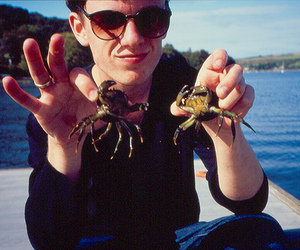 boy, glasses, and crab image
