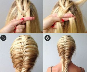 blonde, hairstyle, and step to step image