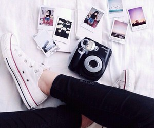 converse, photo, and polaroid image