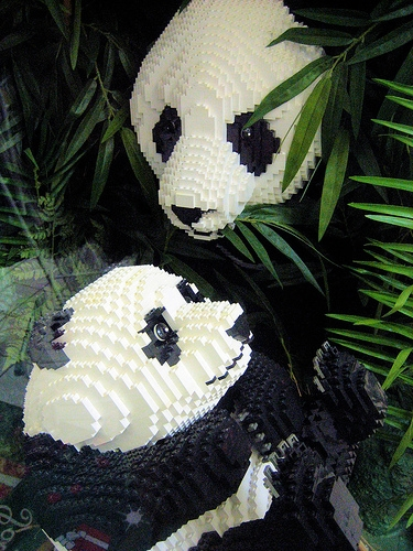 panda and lego image