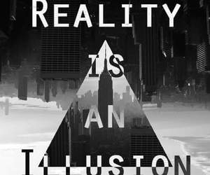 black and white, city, and illusion image