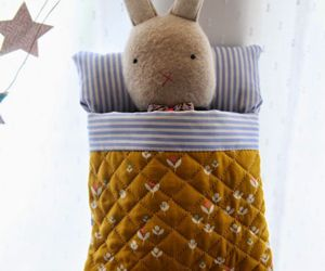 bed, rabbit, and sew image