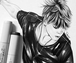 black&white, kpop, and bts image