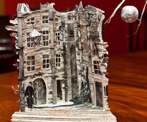 books, building, and Paper image