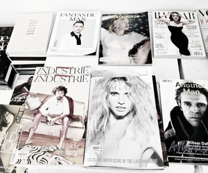 magazine, white, and theme image