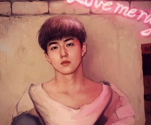 exo, suho, and fanart image