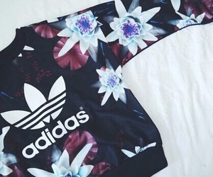 adidas, flowers, and style image