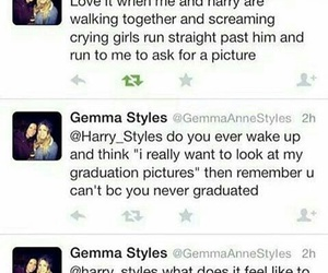 funny, gemma styles, and Harry Styles image