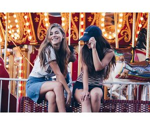 friendship, girls, and nature image