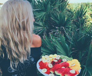 fruit, hair, and blonde image