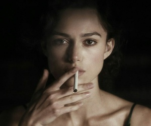 keira knightley, smoke, and cigarette image