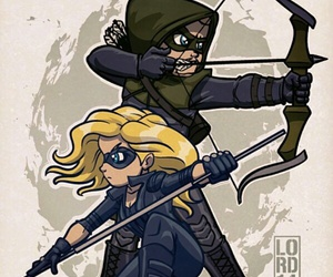 arrow, Black Canary, and serie image