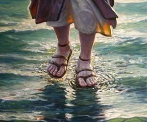 feet, jesus, and god image