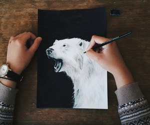 art, bear, and hands image