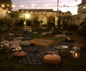 candles, garden, and night image