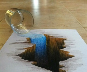 water, art, and drawing image