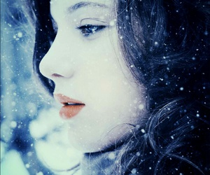 blue eyes, make-up, and winter image
