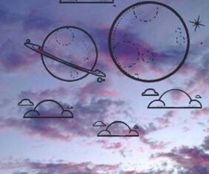 wallpaper, clouds, and planet image