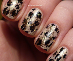 cheetah, nails, and nail art image