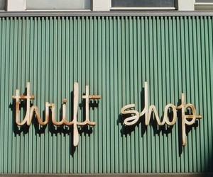thrift shop, thrift, and green image
