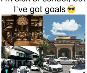 cars, goals, and house image