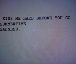 lana del rey, summertime sadness, and quote image