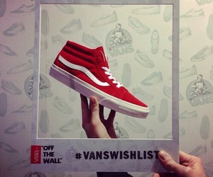 cool, vans, and red image