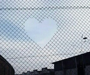 heart, grunge, and sky image