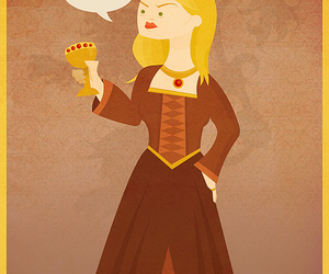 illustration, cersei, and game of thrones image
